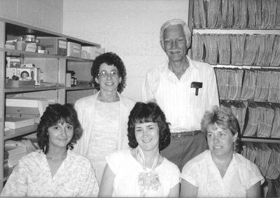 Registrar's Office staff, 1986