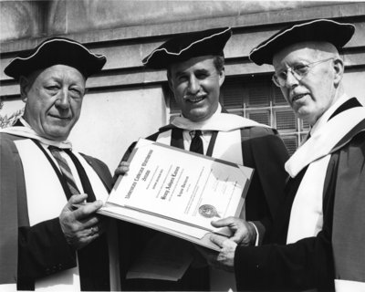 Honorary degree recipients at Waterloo Lutheran University spring convocation 1961