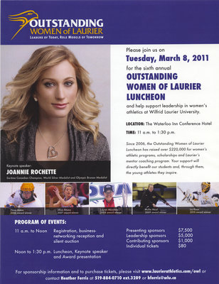 2011 Outstanding Women of Laurier Luncheon poster