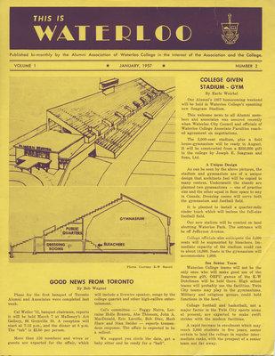 This is Waterloo, January 1957, volume 1, number 2