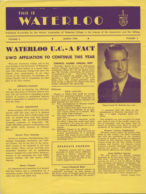 This is Waterloo, March 1959, volume 3, number 3