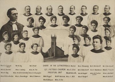 Choir of the Lutheran St. Peter's Church, Preston, Ont.