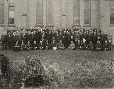 Delegates attending merging of the Synod of Central Canada and the Canada Synod, 1925