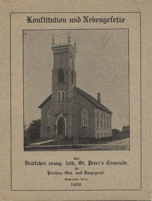 Constitution : St. Peter's Evangelical Lutheran Church, Preston, Ontario