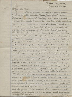 Letter from C. H. Little to Candace Little, June 19, 1918