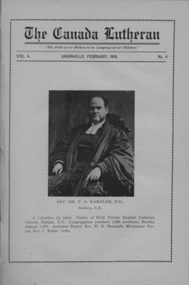 The Canada Lutheran, vol. 4, no. 4, February 1916