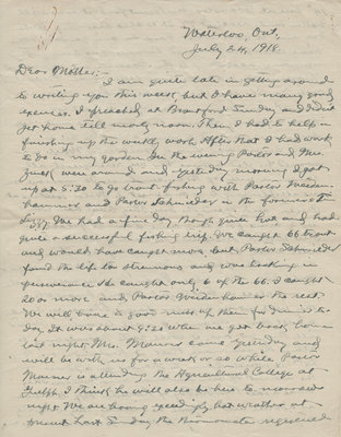 Letter from C. H. Little to Candace Little, July 24, 1918