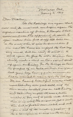 Letter from C. H. Little to Candace Little, January 5, 1919