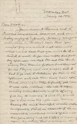 Letter from C. H. Little to Candace Little, January 20, 1919