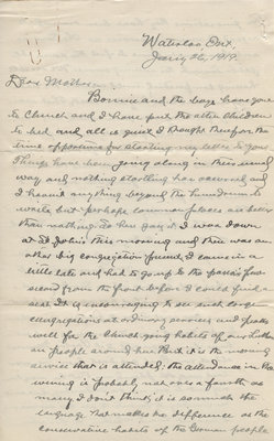 Letter from C. H. Little to Candace Little, January 26, 1919