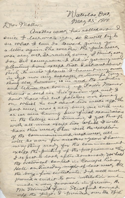 Letter from C. H. Little to Candace Little, May 25, 1919