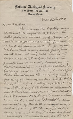 Letter from C. H. Little to Candace Little, November 23, 1919