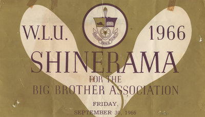 Waterloo Lutheran University Shinerama poster, 1966