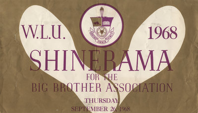 Waterloo Lutheran University Shinerama poster, 1968