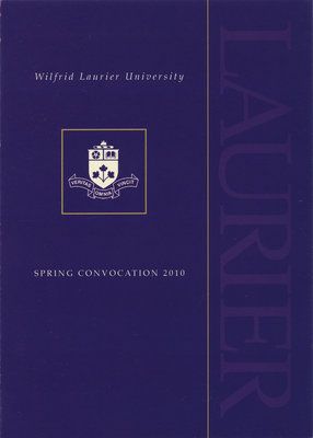 Wilfrid Laurier University spring convocation invitation, 2010