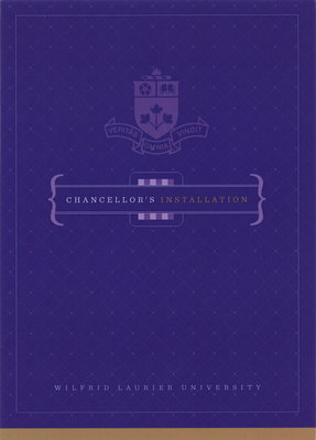 Wilfrid Laurier University fall convocation and Chancellor's installation dinner invitation, 2011