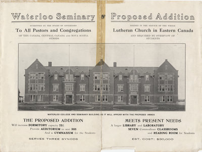 Waterloo Seminary and proposed addition