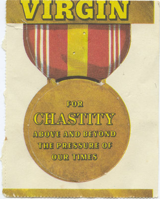 Virgin/Easy chastity badge, 1967