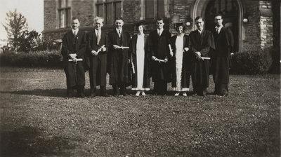 Waterloo College graduating students, 1933