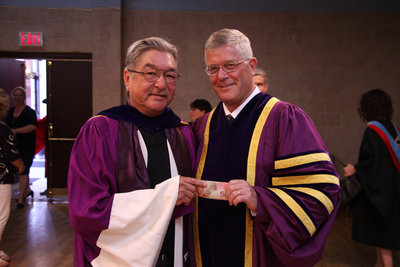 Graham Greene and Max Blouw, Brantford convocation 2008