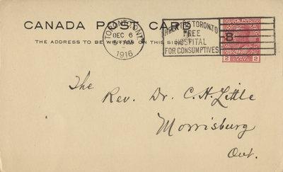 Emil Hoffmann to Carroll Herman Little, December 5, 1916