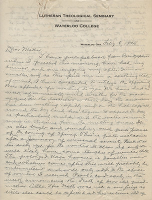 Letter from Carroll Herman Little to Candace Little, February 8, 1925