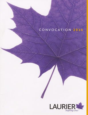 Wilfrid Laurier University spring convocation program, 2014