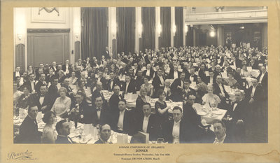 London Conference of Organists Convention Dinner, 1935