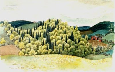 Spring Landscape with Farms