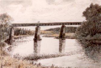 Railway Bridge Across the Grand River