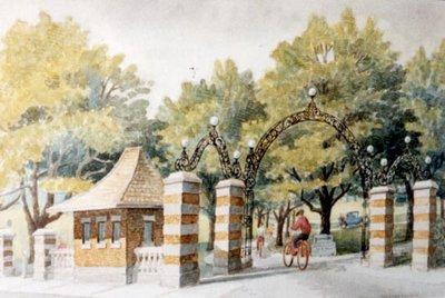 Entrance to Waterloo Park, Circa 1930