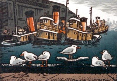 Seagulls And Tugs
