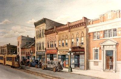 King Street North, Waterloo, Circa 1932