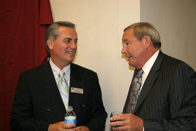 Two men at a Laurier Brantford event