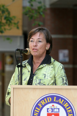 Elizabeth Witmer at the official opening of the Faculty of Education, Wilfrid Laurier University