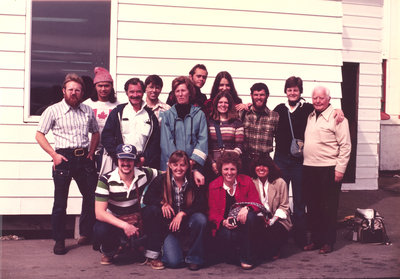 Marie Sanderson with research and field work team, Nunavut