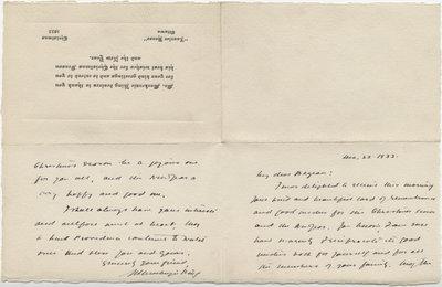 Letter from William Lyon Mackenzie King to C. Mortimer Bezeau, December 22, 1933