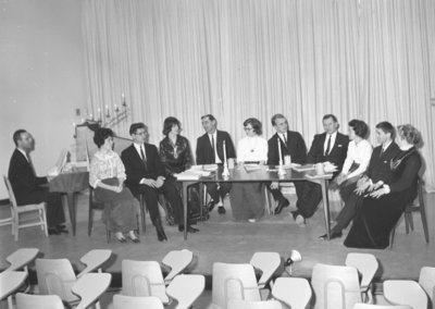 Performers at the Waterloo Lutheran University honours William Shakespeare event, 1964