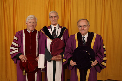 Bob Rae, Don Morgenson and Robert Rosehart, Wilfrid Laurier University spring convocation, 2006