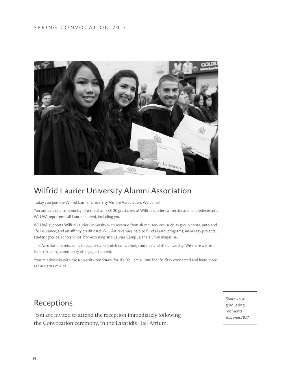 Wilfrid Laurier University Spring Convocation Program 2017