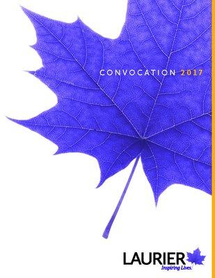 Wilfrid Laurier University Brantford spring convocation program, 2017