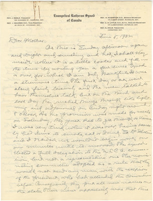 Letter from C. H. Little to Candace Little, June 5, 1932
