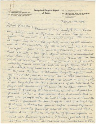 Letter from C. H. Little to Candace Little, March 29, 1936
