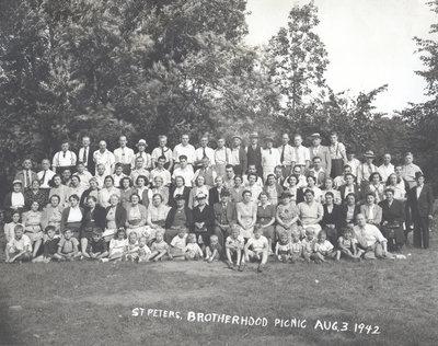 Lutheran Brotherhood picnic, St. Peter's Lutheran Church, Kitchener, Ontario