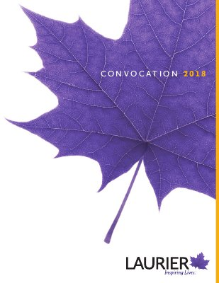 Wilfrid Laurier University Brantford spring convocation program, 2018