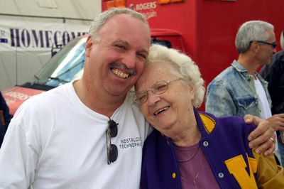 Eileen Stumpf and son, Wilfrid Laurier University Homecoming, 2003