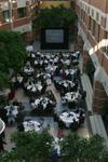 Tables set up for Wilfrid University Alumni Association annual awards banquet, 2003