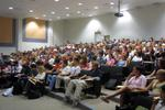 Students in Bricker Academic Building lecture hall, 2003