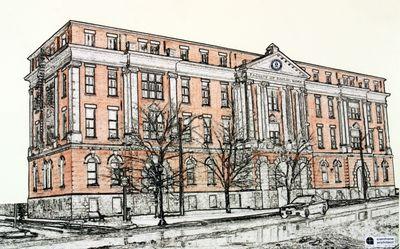 St. Jeromes building sketch, 2004