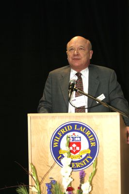 Art Szabo at Science Research Centre opening, 2004
